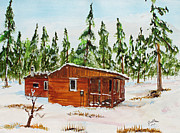 Deer Camp Prints - Stump Sitters Deer Camp Print by Jack  Brauer