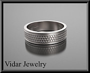 Featured Jewelry - Stunning 14k White Gold Mens Wedding Ring by Roi Avidar