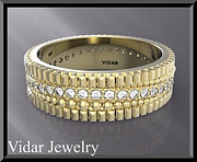 Featured Jewelry - Stunning 14k Yellow Gold Unisex Wedding Ring by Roi Avidar