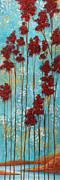 Stunning Abstract Landscape Elegant Trees Floating Dreams I By Megan Duncanson Print by Megan Duncanson