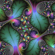 Jewel Digital Art Prints - Stunning mandelbrot fractal Print by Matthias Hauser