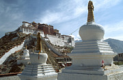 Symbolize Posters - Stupas and Potala Palace - Tibet Poster by Craig Lovell