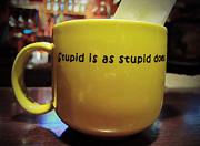 Bubba Metal Prints - Stupid is as Stupid does... Metal Print by Marguerita Tan
