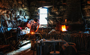 Sturbridge Village Blacksmith Print by Scott Thorp