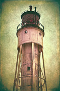 Historic Ship Posters - Sturgeon Bay Ship Canal Lighthouse Poster by Joan Carroll