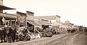 Conestoga Wagon Photos - STURGIS SOUTH DAKOTA c. 1890 by Daniel Hagerman