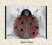 Good Luck Posters - Stylish Lady - Lady Bug Beetle - Decoration Poster by Barbara Griffin