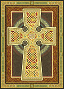 Knotwork Digital Art - Stylized Celtic Cross by Randy Wollenmann