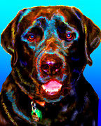 Black Lab Mixed Media - Styx by Tammy Berk