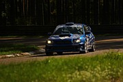 Blue Subaru Prints - Subaru race car Print by Renars Zagars