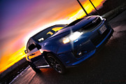 Blue Subaru Prints - Subaru Sunset Print by Matteo Alfieri