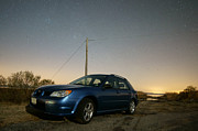 Blue Subaru Prints - Subaru Under the Stars Print by Benjamin Reed