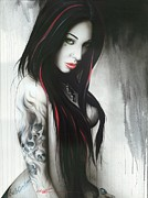 Tattoo Art Posters - Subliminal II Poster by Christian Chapman Art
