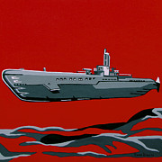 Iraq Painting Prints - Submarine Sandwhich Print by Slade Roberts