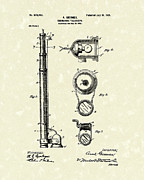 1901 Posters - Submarine Telescope 1901 Patent Art Poster by Prior Art Design