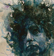 Singer Painting Metal Prints - Subterranean Homesick Blues  Metal Print by Paul Lovering