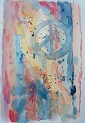 Sixties Painting Originals - Subtle Peace by Elaine Duras