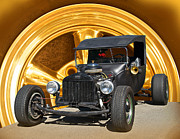 Ford Model T Car Posters - Subtle T Rat Rod Poster by Dave Koontz