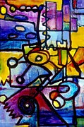 Regina Valluzzi Painting Metal Prints - Suburbias Daily Beat Metal Print by Regina Valluzzi