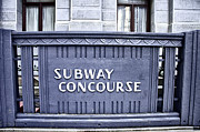 Concourse Digital Art Framed Prints - Subway Concourse at City Hall Framed Print by Bill Cannon