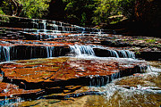 Waterfall Photo Prints - Subway Falls Print by Chad Dutson