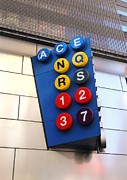 Allen Beatty Art - Subway Sign by Allen Beatty