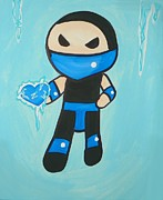 Game Painting Prints - Subzero Frozen Heart Print by Marisela Mungia