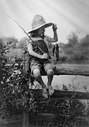 Tomboy Photo Prints - SUCCESSFUL DAY of FISHING  1919 Print by Daniel Hagerman