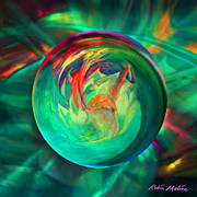 Abstract Art Digital Art - Succulent Sphere by Robin Moline