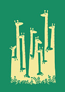 Funny Animals Prints - Such a great height Print by Budi Satria Kwan