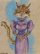 Cats Framed Prints - Such A Lady Framed Print by Angel  Tarantella