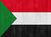 Sudan Red Framed Prints - Sudan flag Framed Print by Luis Santos