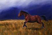 Michelle Wrighton - Galloping Horse Painting