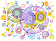 Patterned Drawings Metal Prints - Suddenly Metal Print by Regina Valluzzi