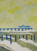 Suffolk Southwold Pier Print by Lesley Giles