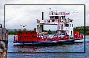 Car Carrier Photos - Sugar Island Ferry by Evie Carrier