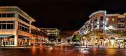 Bistro Framed Prints - Sugar Land Town Square Framed Print by David Morefield