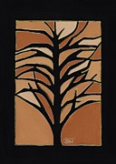 Beige Glass Drawings - Sugar Maple by Barbara St Jean