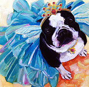 Boston Paintings - Sugar Plum Terrier by Kristy Tracy