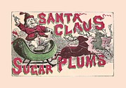 White Sugar Mixed Media Posters - Sugar Plums Label 1868 with border Poster by Unknown - L Brown