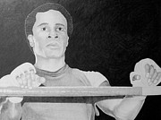 Boxing Drawings - Sugar Ray Leonard by Mark Beach