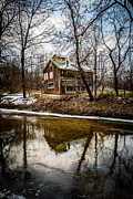 Deep Reflection Art - Sugar Shack in Deep River County Park by Paul Velgos