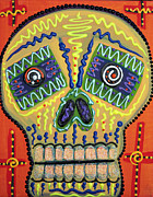 Candy Painting Posters - Sugar Skull Delight Poster by Laura Barbosa