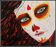 Celebrity Images Prints - Sugar Skull Print by Kip Krause