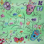 Sugar Skull Prints Posters - Sugar Skull Poster by Lindsay Carpenter