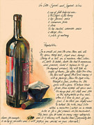 Glass Wall Painting Posters - Sugared Wine Poster by Alessandra Andrisani