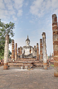Ancient Photo Prints - Sukhothai Historical Park - Sukhothai Thailand - 011331 Print by DC Photographer