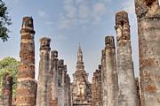 Sukhothai Historical Park - Sukhothai Thailand - 011336 Print by DC Photographer
