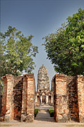 Historical Photo Posters - Sukhothai Historical Park - Sukhothai Thailand - 011348 Poster by DC Photographer