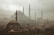 Mosque Posters - Suleymaniye Mosque and Rustem Pasha Mosque Poster by Ayhan Altun